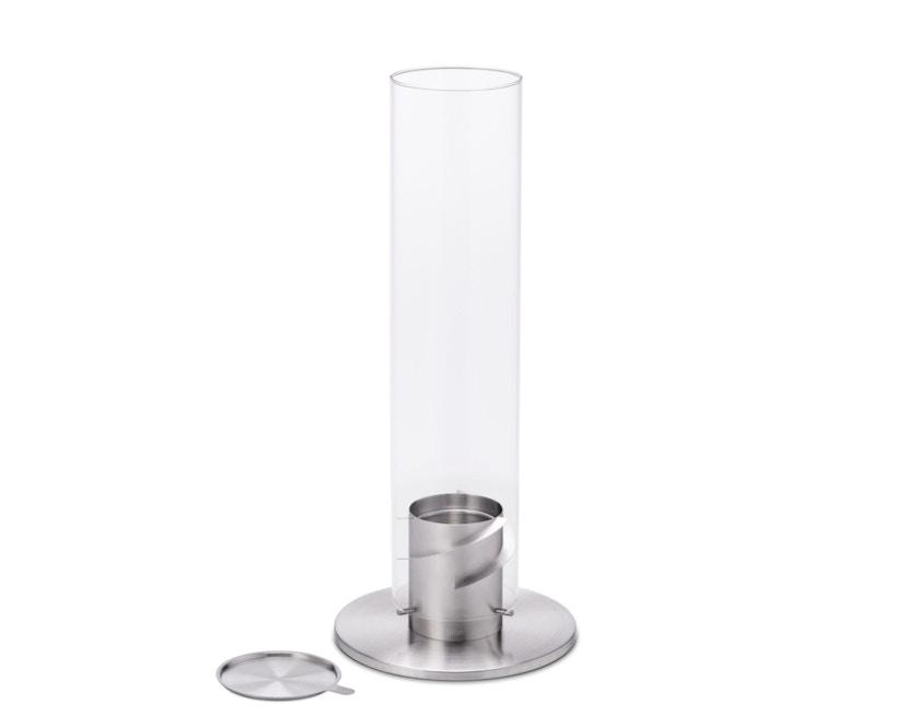SPIN Tischfeuer - silber - 12 cm Ø