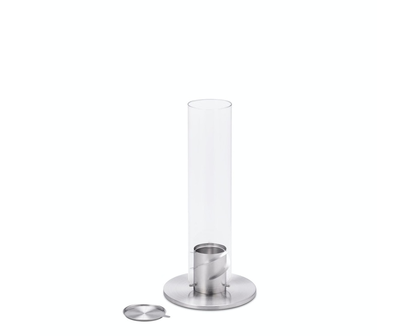 SPIN Tischfeuer - silber - 9 cm Ø