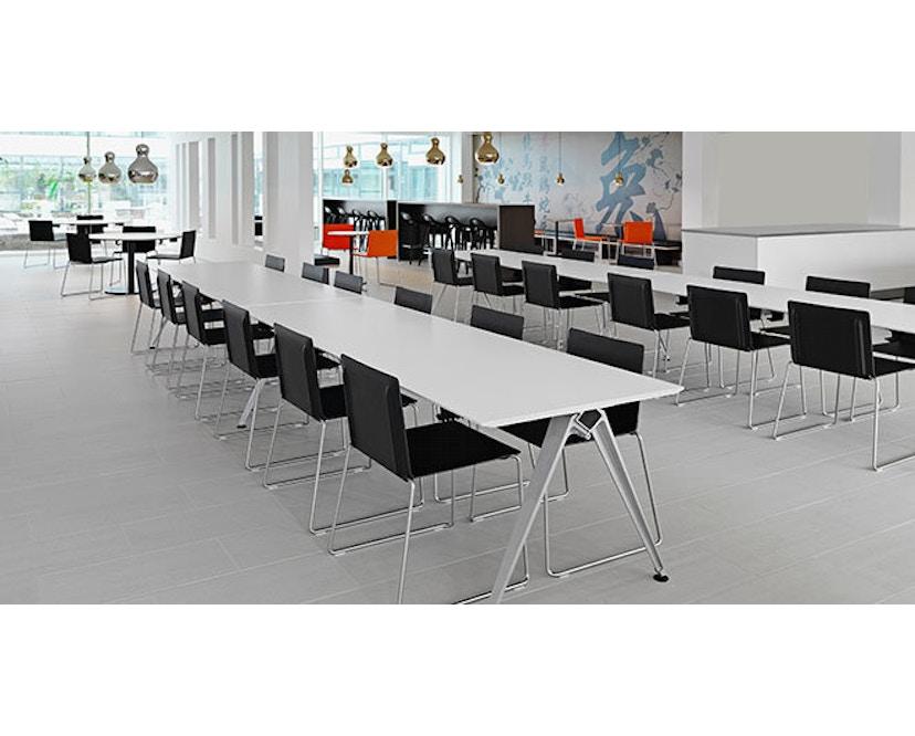 Randers + Radius - GRIP Basic tafel - 239 - 80 cm - wit - Zonder stekkerdoos - zwart - 5