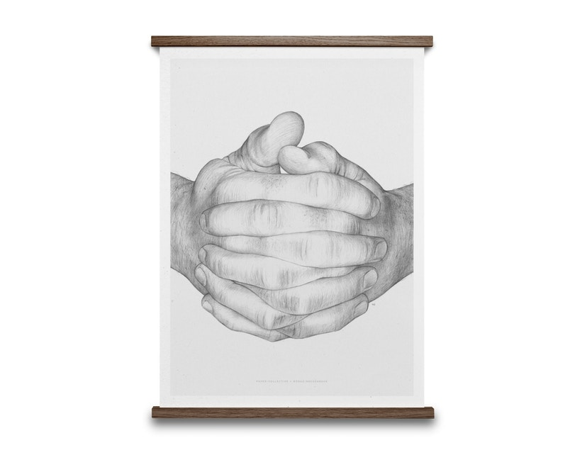 Paper Collective - Folded Hands Poster - grau - 2