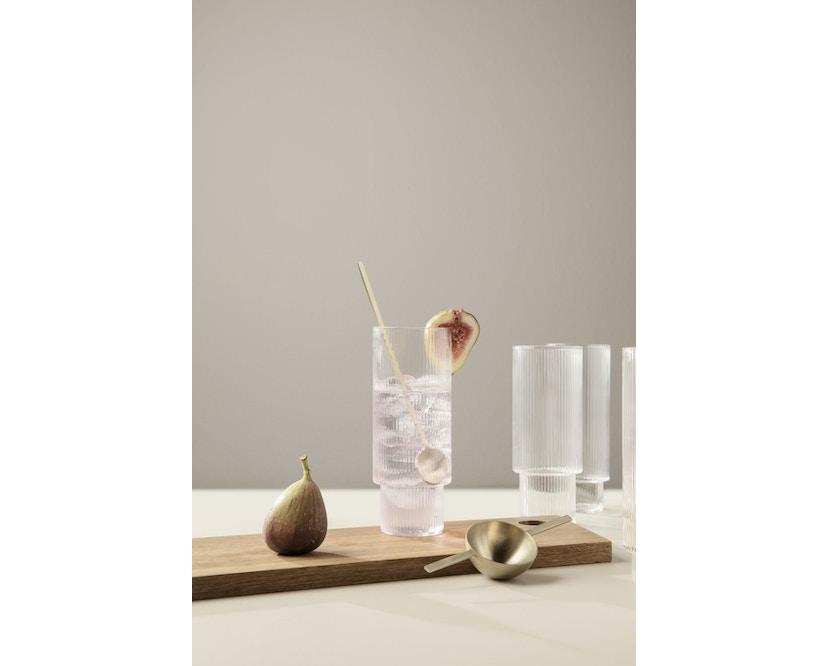 ferm LIVING - Ripple Long Drink glazen (set van 4) - 3