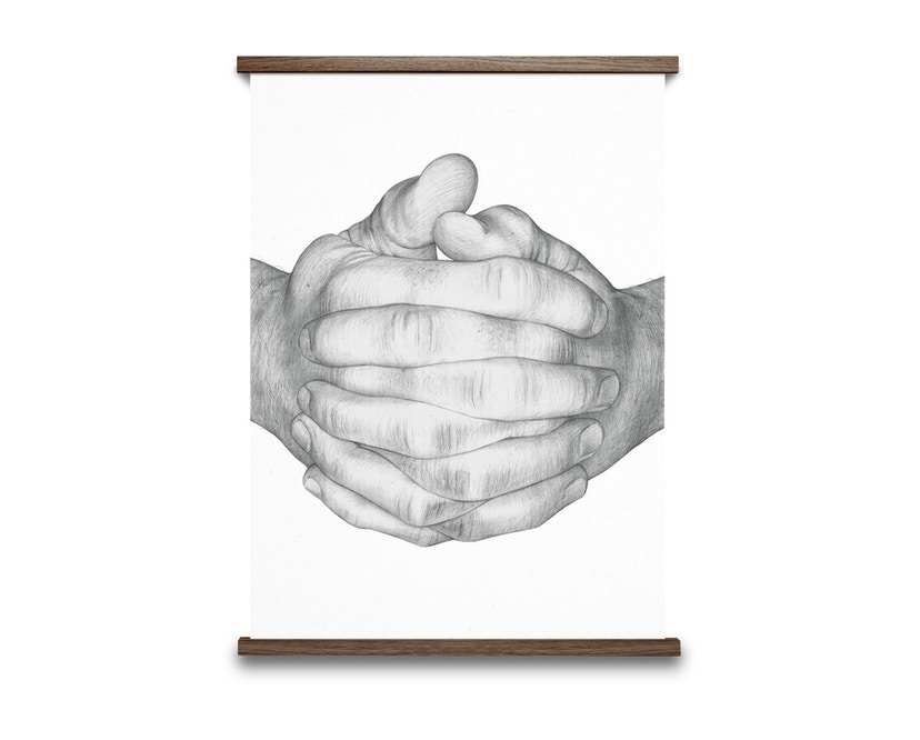 Paper Collective - Folded Hands Poster - weiß - 1