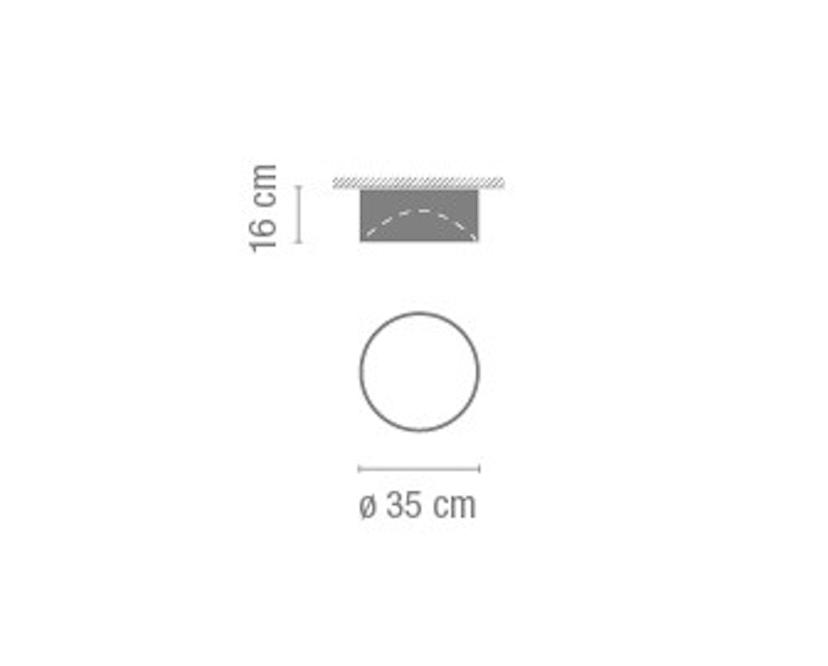 Vibia - Plus Plafondlamp - Ø 35 cm - niet instelbaar - recht - VibiaLeuchstoffröhre - 13