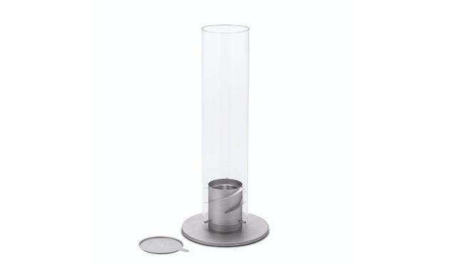 SPIN Tischfeuer - grau - 12 cm Ø
