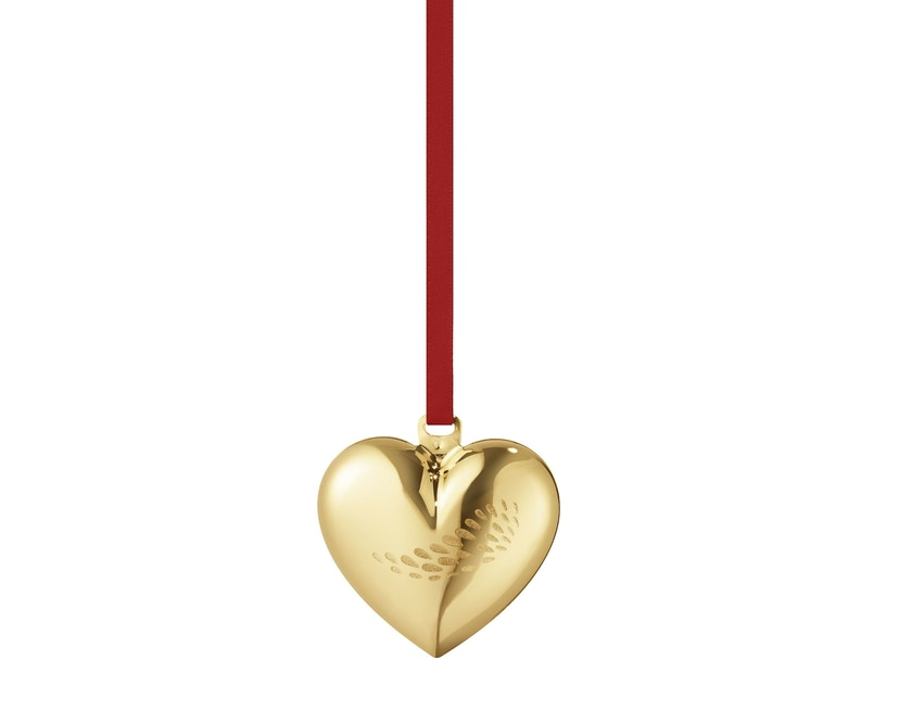 Georg Jensen - Herz Christbaumkugel - Gold - 1