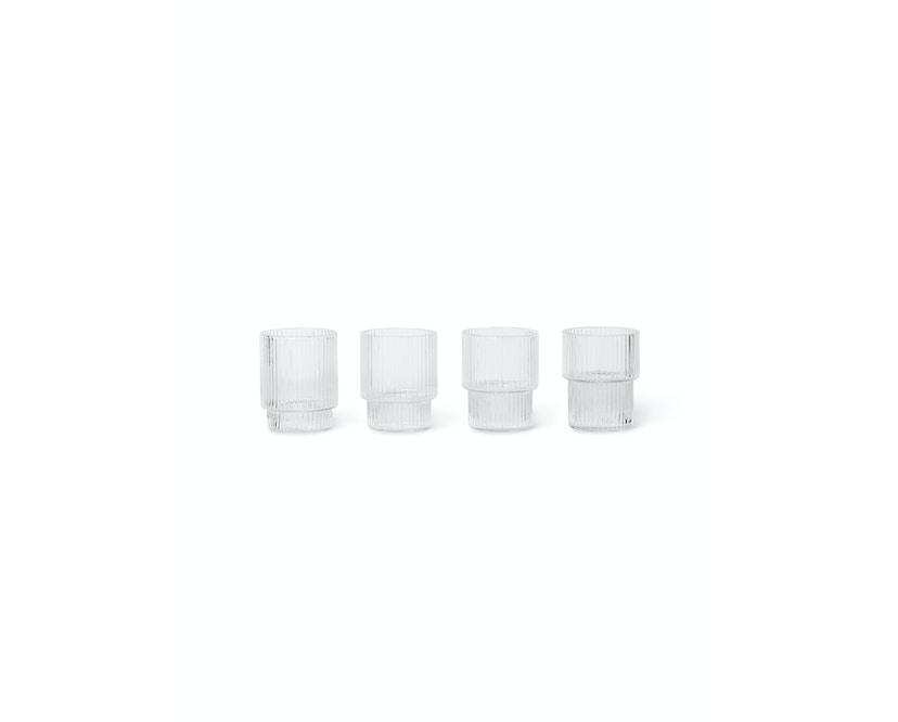 ferm LIVING - Ripple kleine Gläser (4er-Set) - transparent - 1