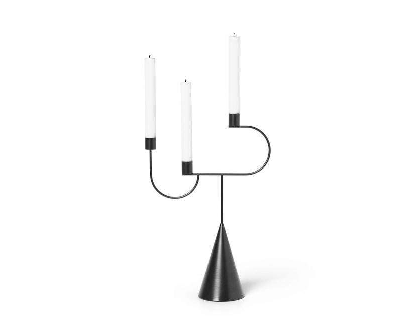 ferm LIVING - Avant Candelabra Kerzenhalter - schwarz - 1