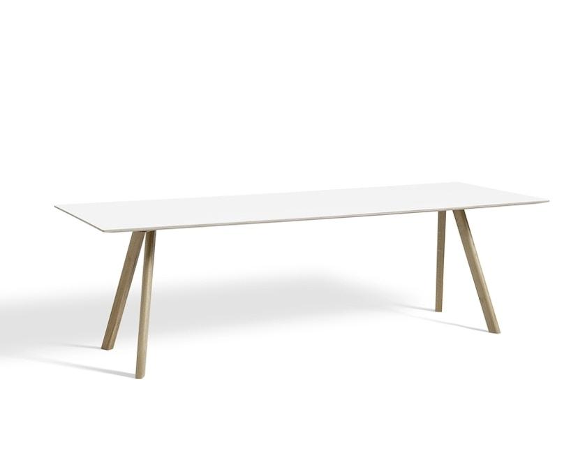 HAY - Copenhague CPH30 Esstisch | 200 x 90 cm - Gestell Eiche geseift - Tischplatte weiß - 1