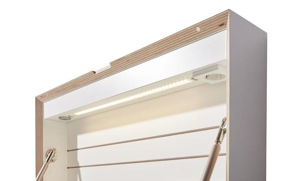 Müller Möbelwerkstätten - FLATBOX Sekretär - weiß - LED Leuchte und Steckdose - 6