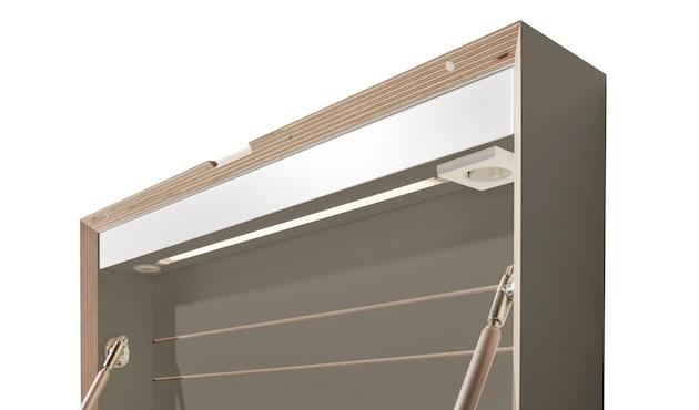 Müller Möbelwerkstätten - FLATBOX Sekretär - anthrazit - LED Leuchte und Steckdose - 2