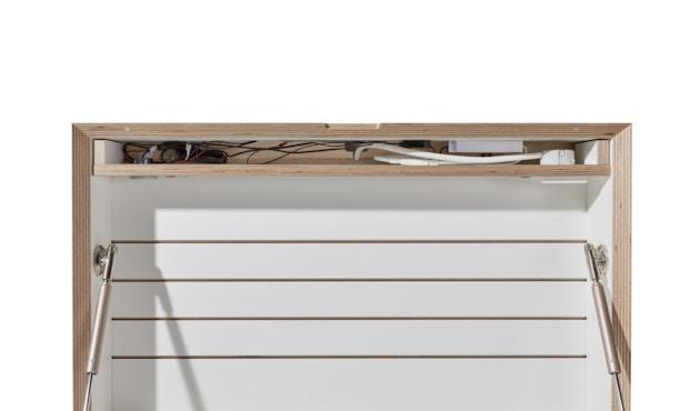 Müller Möbelwerkstätten - FLATBOX Sekretär - weiß - LED Leuchte und Steckdose - 7