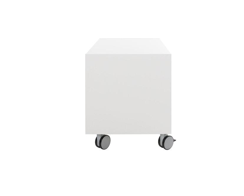 Müller Möbelwerkstätten - Nachttisch auf Rollen - Melamin weiß & weiße Kante - 3