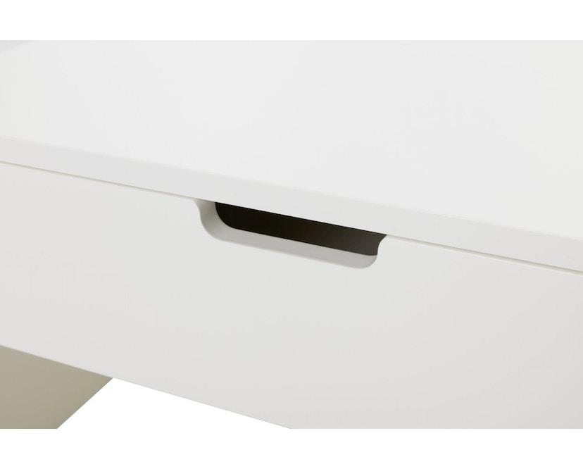 Müller Möbelwerkstätten - Nachttisch auf Rollen - Melamin weiß & weiße Kante - 6