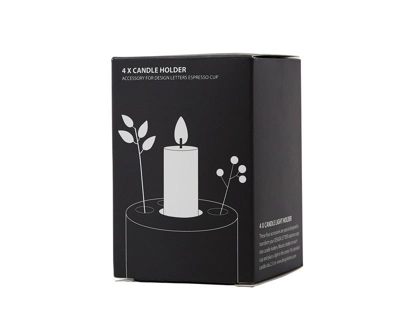 DESIGN LETTERS - Kerzenhaltereinssatz für Espressobecher  - 7
