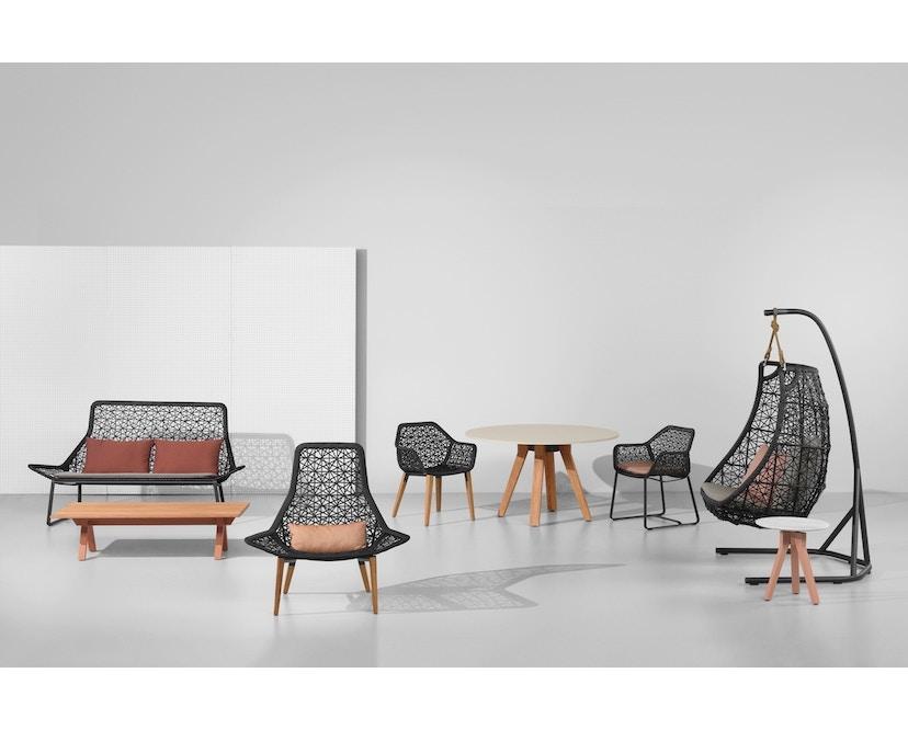 Kettal - Maia 2-Sitzer Sofa - mangangrau/ kastanienbraun - 3