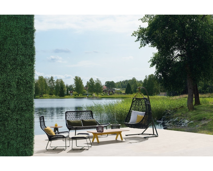 Kettal - Maia 2-Sitzer Sofa - mangangrau/ kastanienbraun - 4