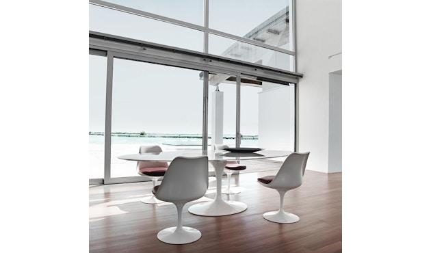 Knoll International - Saarinen Tulip Stuhl - Bezug Tonus Bright Red - Gestell weiß - Sitzkissen - 2