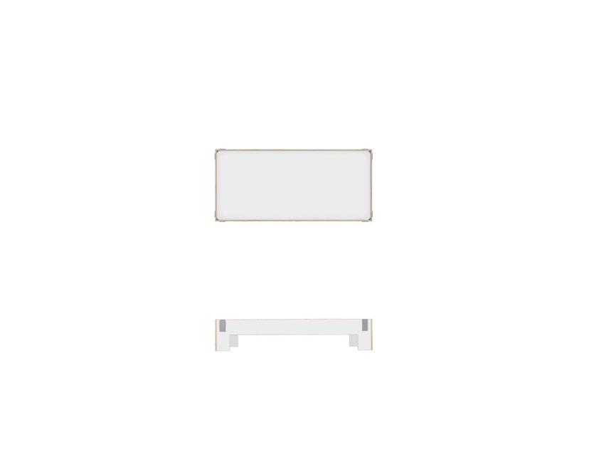 Moormann - Tagedieb Bett - 90 x 200 cm - weiß - 3