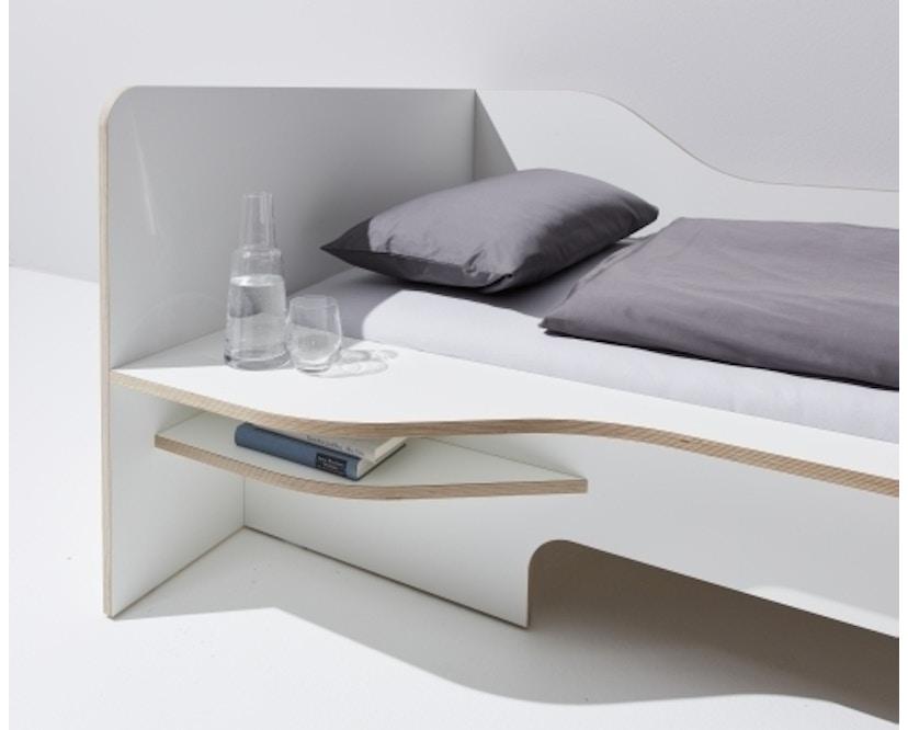 Müller Möbelwerkstätten - Plane Einzelbett - CPL weiß - rechts - ohne Bettkasten - 2