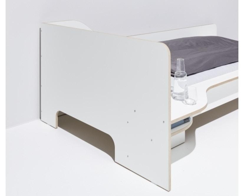 Müller Möbelwerkstätten - Plane Einzelbett - CPL weiß - rechts - ohne Bettkasten - 3