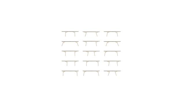 Moormann - Klopstock tafel L - antraciet - 160 x 90 cm - 8