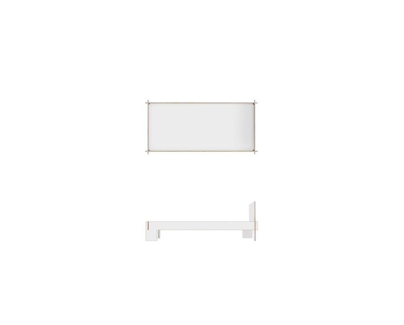 Moormann - Siebenschläfer Bett mit Kopfteil - 90 x 200 cm - weiß - 4
