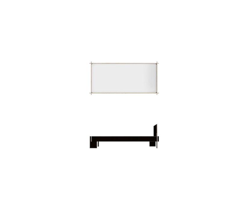 Moormann - Siebenschläfer Bett mit Kopfteil - 90 x 200 cm - schwarz - 3