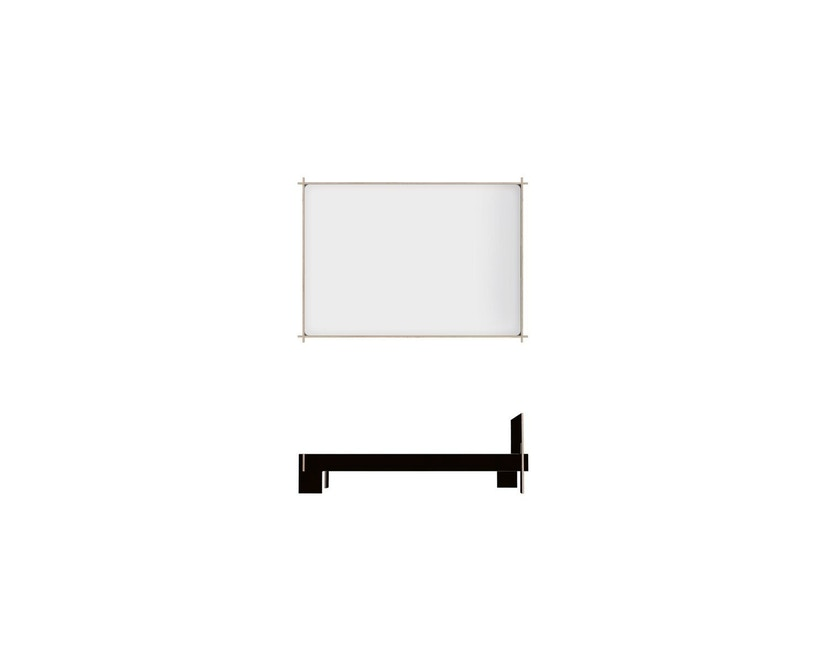 Moormann - Siebenschläfer Bed met hoofdeinde - zwart - zwart (FU) - 140 x 200 cm - 3