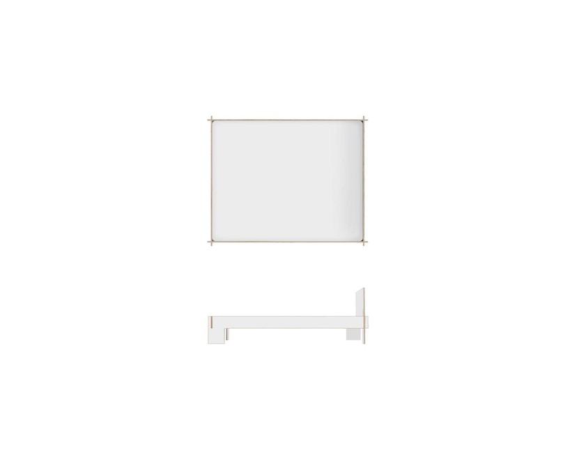 Moormann - Siebenschläfer Bett mit Kopfteil - 160 x 200 cm - weiß - 3