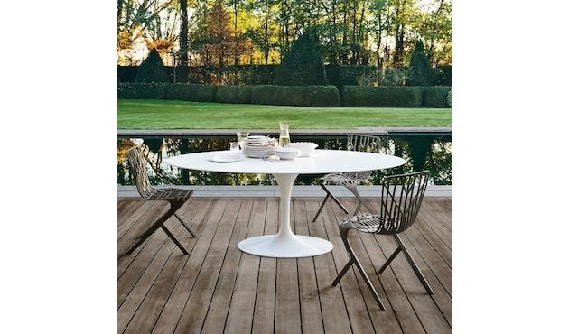 Knoll International - Saarinen Outdoor Eettafel - ovaal - zwart - 3