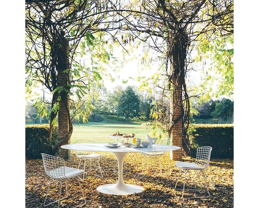 Knoll International - Saarinen Outdoor Esstisch - oval - 4