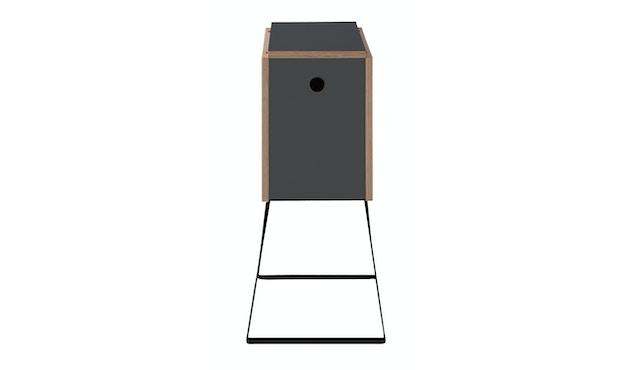 Müller Möbelwerkstätten - Wingcube Klapptisch - anthrazit - schwarzes Gestell - 2