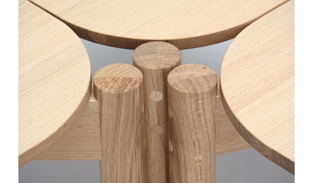 Karimoku New Standard - Castor Tisch quadratisch - Eiche - 10
