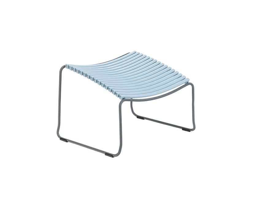 Houe - Click Footrest Hocker schräg - blau - 1