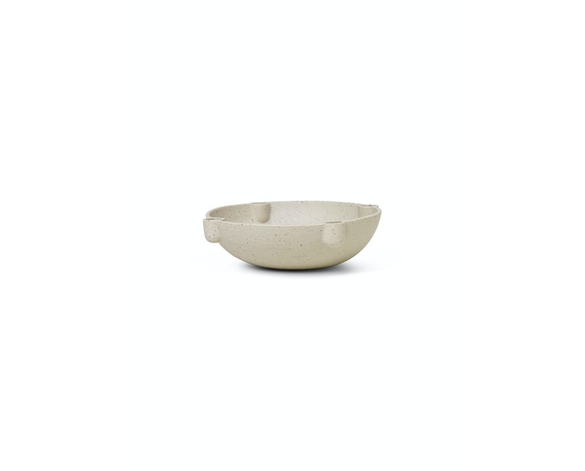 Bowl Kerzenständer Keramik - beige