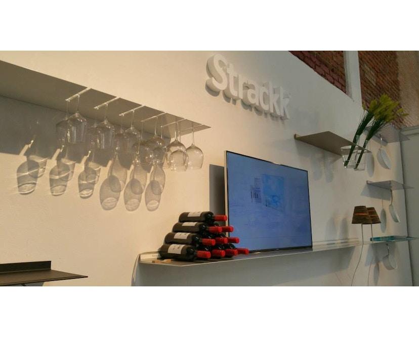 Strackk - Glass Wandregal - schwarz - 110 cm - 9