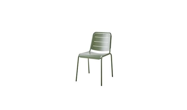 Cane-line - Copenhagen City Stuhl ohne Armlehne - olivegrün - 1