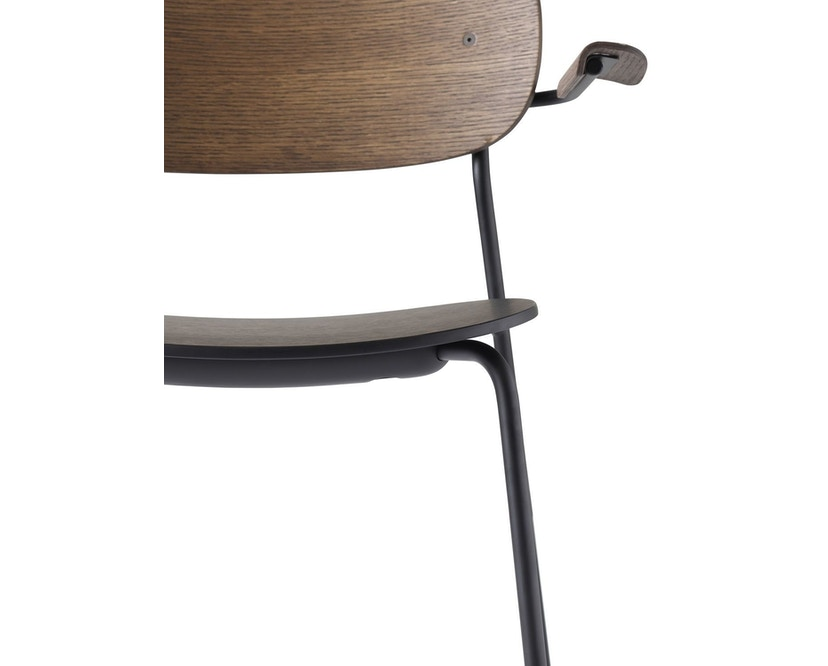 Menu - Co Chair w/ Armrest - zonder zitkussen - donkere eik - 2