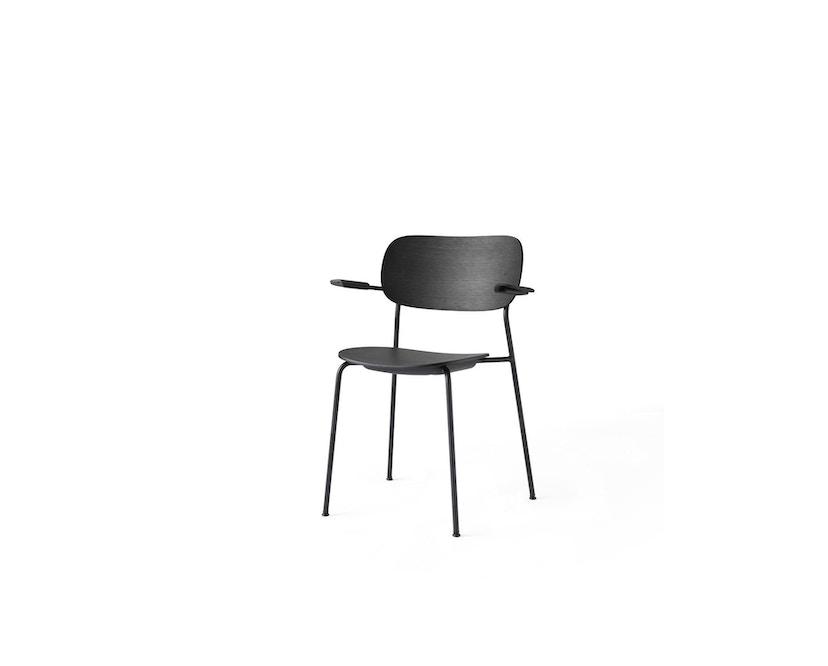 Menu - Co Chair w/ Armrest ohne Polster - Black Oak - 3