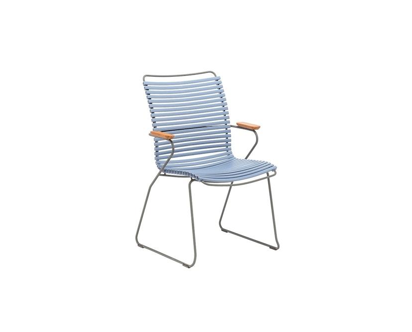 Houe - Click Dining Armlehnstuhl mit hoher Lehne - taubenblau - 1
