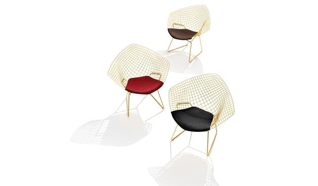 Knoll International - Bertoia Diamond Sessel - Chrom hochglänzende - Vinyl gelb - 2