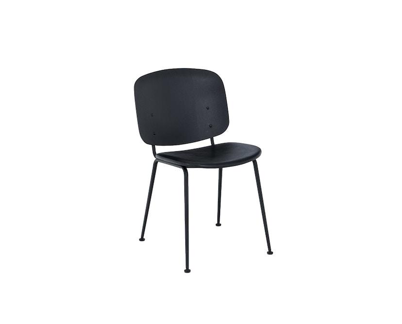 Houe - Grapp Dining Stuhl - Lederpolster schwarz - 1
