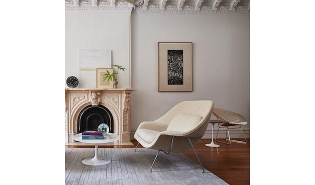 Knoll International - Saarinen Couchtisch - rund 91 Ø - Laminat weiß - Säulenfuß schwarz - 1