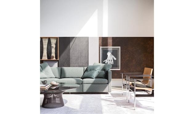 Knoll International - Platner Salontafel - Nikkel gepolijst - Kristalglas - Ø 91,5 cm - 1