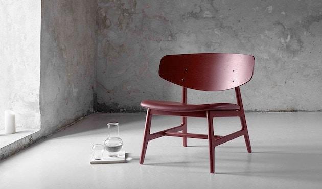 Houe - Siko Lounge Stuhl geölt mit Lederpolster schwarz - 2