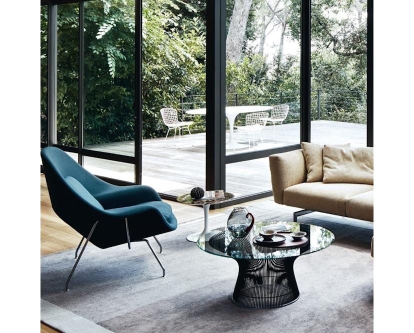 Knoll International - Saarinen Womb Sessel - Relax - Volo Black - Polyesterfaser-Füllung - Gestell Chrom glänzend - 3