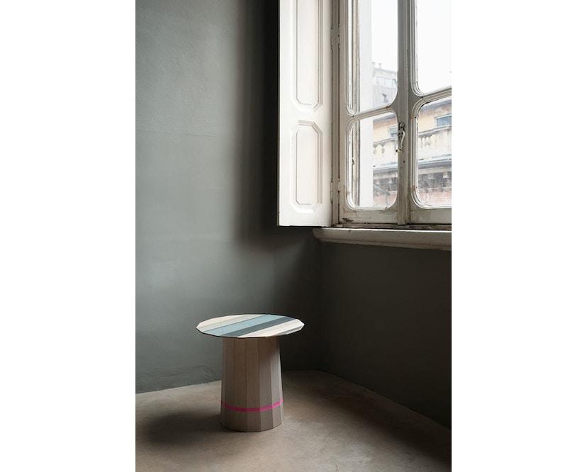 Karimoku New Standard - Colour Wood Tisch Kastanie - bunte Streifen - 13