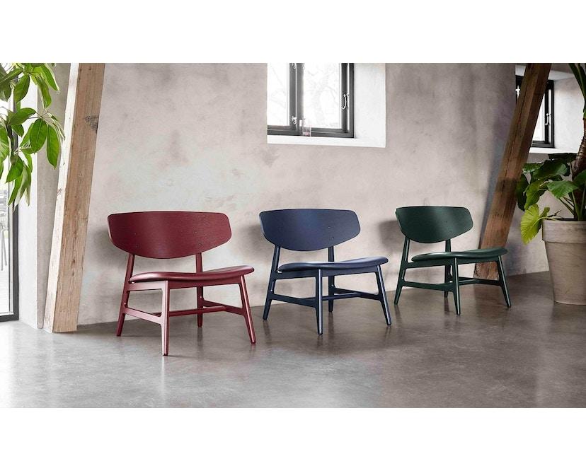 Houe - Siko Lounge Stuhl geölt mit Lederpolster schwarz - 3