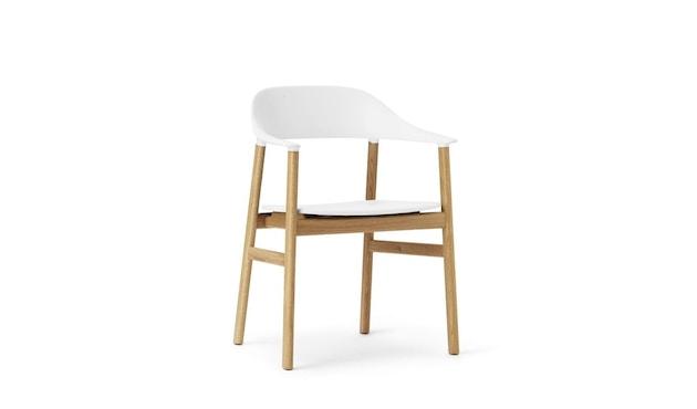 Normann Copenhagen - Herit Armlehnstuhl - Gestell Eiche - white - 1