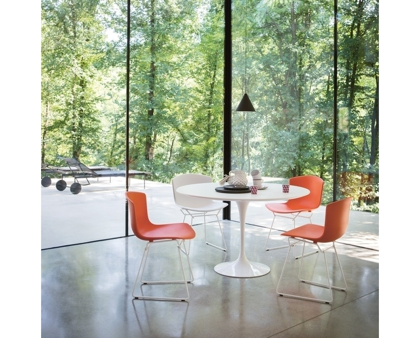 Knoll International - Bertoia Plastic Side Chair - weiß - Gestell weiß - 1